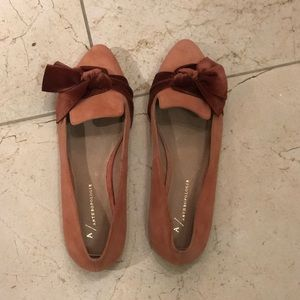 Anthropologie pale pink loafers